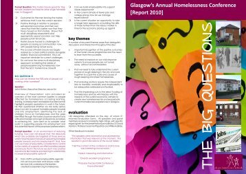 Annual Conference Report 2010 - Glasgow Homelessness Network