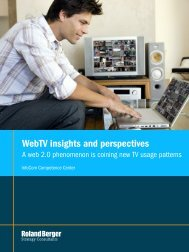 WebTV insights and perspectives - Roland Berger