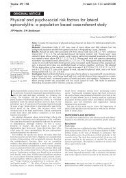 Physical and psychosocial risk factors for lateral epicondylitis: a ...