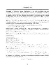 L'algorithme FGLM L'examen. Le texte suivant présente l ... - FIL
