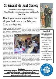 SVDP June 2011 Newsletter.pdf - Catholic Diocese of Christchurch