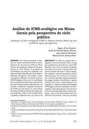 Análise do ICMS-ecológico em Minas Gerais pela perspectiva do ...