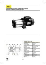 Elettropompe centrifughe multistadio orizzontali Horizontal ...