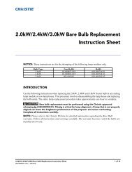 Christie ERHP Bare Bulb Replacement Instruction Sheet