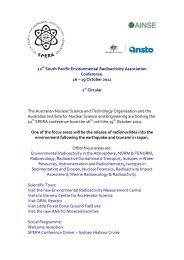 12 South Pacific Environmental Radioactivity Association ... - ainse