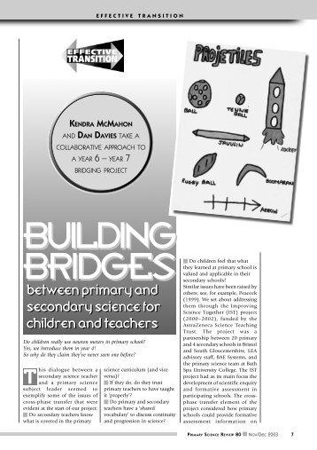 Building Bridges - The Association for Science Education