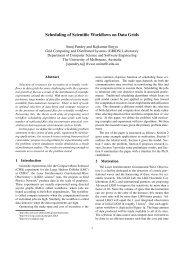 Scheduling of Scientific Workflows on Data Grids