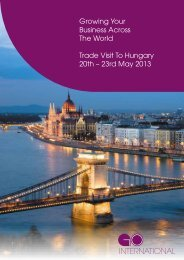 Growing Your Business Across The World Trade Visit To Hungary ...