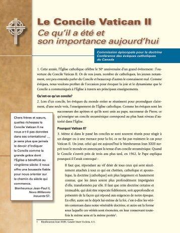 Le Concile Vatican II - Conférence des évêques catholiques du ...