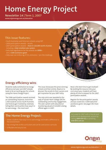 Home Energy Project - Origin Energy