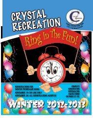 registrations for Winter programs begin: november 19 - City of Crystal