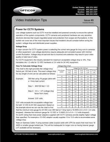 8. Power for CCTV Systems - Opticom
