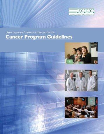 Cancer Program Guidelines - Association of Community Cancer ...