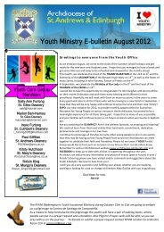 August Youth E-Bulletin - Archdiocese of St Andrews and Edinburgh