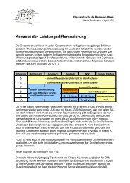 Konzept der Leistungsdifferenzierung - Gesamtschule Bremen-West