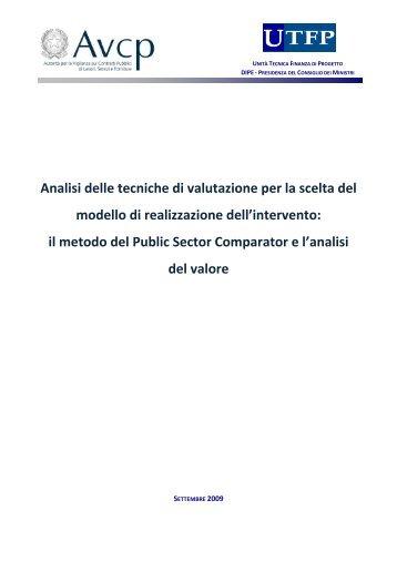 Analisi delle tecniche di valutazione per la scelta del ... - UTFP