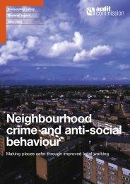 Neighbourhood crime and anti-social behaviour - Audit Commission
