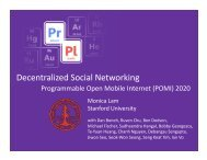 Decentralized Social Networking - Suif - Stanford University