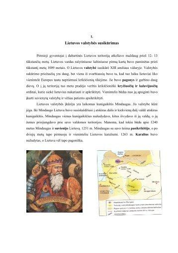 Lietuvos valstybės susikūrimas