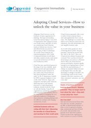 Adopting Cloud Services—How to unlock the value in your business