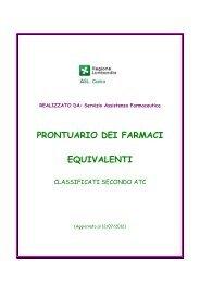 PRONTUARIO DEI FARMACI EQUIVALENTI - Asl Como