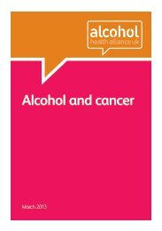Alcohol and cancer - The Medical Council on Alcohol