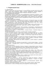 Ciccacci Geomorfologia IIanno.pdf - Scienze della terra