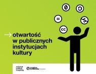 otwartość w publicznych instytucjach kultury - Instytut Kultury Miejskiej
