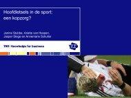 Dr J. Stubbe - Vereniging voor Bewegingswetenschappen Nederland