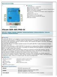 Vision Systems GmbH - VScom SER-485 PRO-SI
