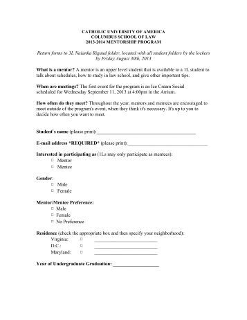 Mentee application form email address mentoring aset for Mentoring application templates