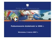Prezentacja wyników IV kwartał 2006 - Pelion.eu