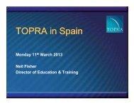 How TOPRA in Spain will work - presentation