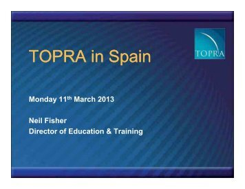 How TOPRA in Spain will work - presentation