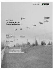 17 Avenue SE TPS Executive Summary - Calgary Transit
