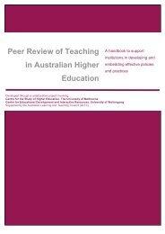 Peer Review of Teaching in Australian Higher Education, handbook