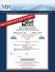 ONLY 4 SPOTS LEFT! SIGN-UP TODAY! - Marin Builders Association