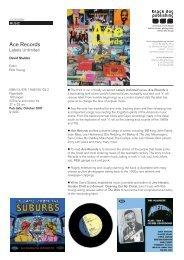 Ace Records - Black Dog Publishing