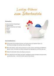 Lustige Hühner zum selber basteln - Zentis