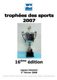 Trophées des sports 2007-16ème édition, les résultats - Cahors