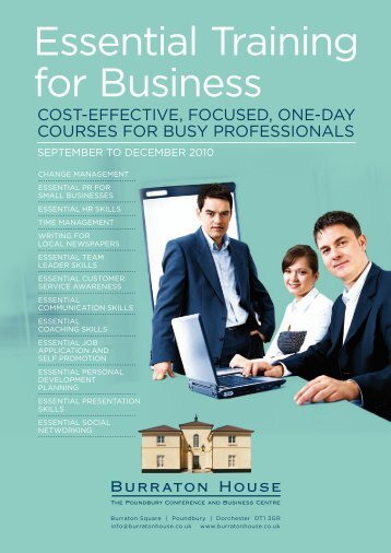 essential Training for Business - Burraton House