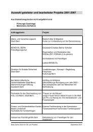 Projekte 2001-2007 - Www3.datacomm.ch