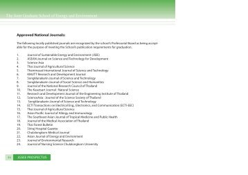 List of Approved National Journals - The Joint Graduate School of ...