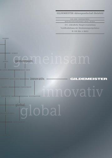 PDF - Download - bei der GILDEMEISTER Aktiengesellschaft