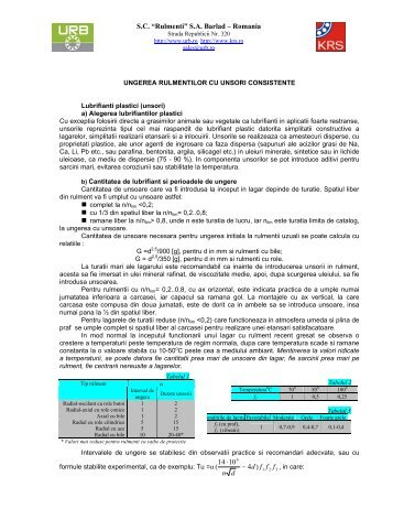 "S.C. ""Rulmenti"" S.A. Barlad – Romania ) 14 10 4 ∙ - n d"