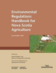 Environmental Regulations Handbook for Nova Scotia Agriculture