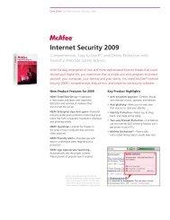 McAfee Internet Security 2009: Datasheet - A Soft 1