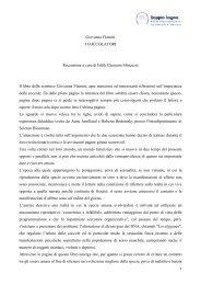 Giovanna Flamini I COCCOLATORI Recensione a ... - Doppio Sogno