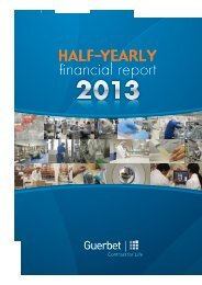 Half-yearly financial report - Guerbet
