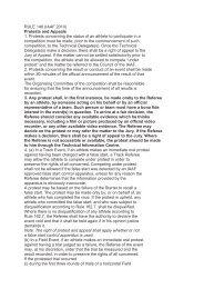 RULE 146 (IAAF 2010) Protests and Appeals 1. Protests ... - LA-Bern